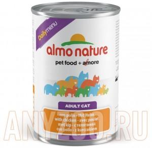 фото Almo Nature dailymenu консервы для собак меню с курицей