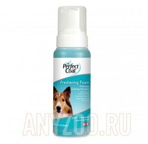 Купить 8 in 1 Perfect Coat Freshening Foam Шампунь-пена для собак без смывания с ароматом детской присыпки