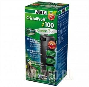 фото JBL CristalProfi i100 greenline Внутренний угловой фильтр для аквариумов 90-160 литров, 300-720 л/ч