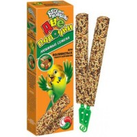 Зоомир Веселый попугай Две палочки для волнистых попугаев Любимые семена