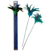 Nobby Игрушка для кошек Дразнилка с перьями, арт. 80070/60902