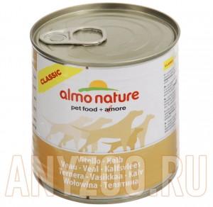 фото Almo Nature Classic консервы для собак с телятиной