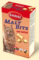 фото Sanal Malt-Bits Санал Мальт-Битс подушечки для выведения шерсти из ЖКТ+Витамины