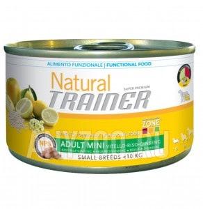 фото Trainer Natural Mini Adult Cured, Ham, Rice and Gins Консервы для взрослых собак мелких пород c ветчиной, рисом и маточным молоком
