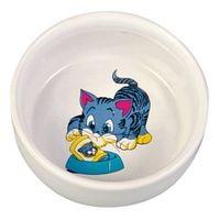"""фото Trixiе 4009 миска для кошек """"кошка с миской"""", керамика 0,3л*ф11см"""