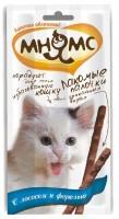 Лакомство Мнямс Лакомые палочки с лососем и форелью для кошек 5г