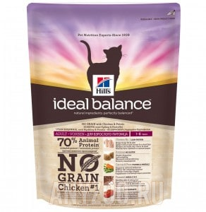 фото Hills Ideal Balance Хиллс Идеальный баланс сухой беззерновой корм для взрослых кошек Курица/картошка