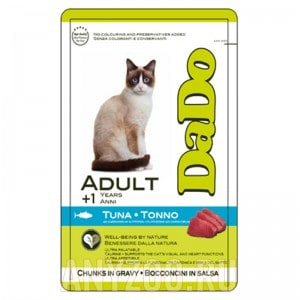 фото DaDo Adult Cat Tuna Дадо пауч для кошек, с тунцом