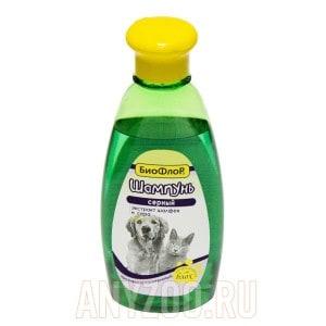 БиоФлор Шампунь Серный противовоспалительный для собак и кошек