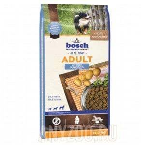 фото Bosch Adult Fish & Potato - Бош Эдалт для собак со средней активностью (рыба с картофелем)