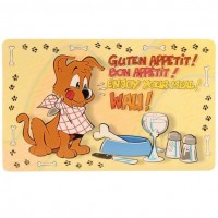 фото Trixie 24541 Коврик под миску с рисунком Собака 44*28см