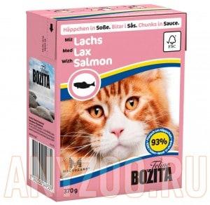 Купить Bozita Tetra Recart - Бозита Тетра Рекарт для кошек Кусочки в желе с Лосем