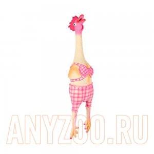 Trixie Трикси игрушка для собак Курица кудахтающая латекс