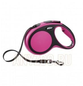 фото Flexi New Comfort рулетка для собак, размер M, 5м*25кг, ремень