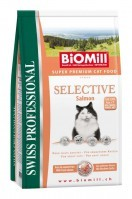 фото Biomill Swiss Professional Selective Salmon Биомилл сухой корм для взрослых кошек с Лососем