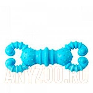 Грызлик игрушка для собак Гантелька-крабик 12см