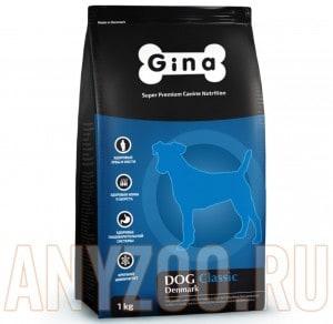 фото Gina Denmark Dog Classic Джина Сухой корм для взрослых собак