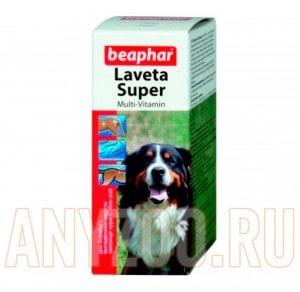 фото Beaphar Lavreta Super Dog Беафар Лаврета Витамины жидкие для кожи и шерсти для собак