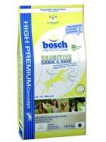 Уценка Bosch Sensitive Lamb&Rice  Бош для взрослых собак с чувствительным пищеварением Мешок рваный