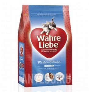 Wahre Liebe Junior Варе Либе сухой корм для котят из мяса цыпленка,риса и печени домашней птицы