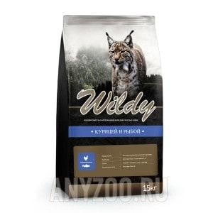 фото Wildy Вилди сухой корм для взрослых кошек Курица и Рыба