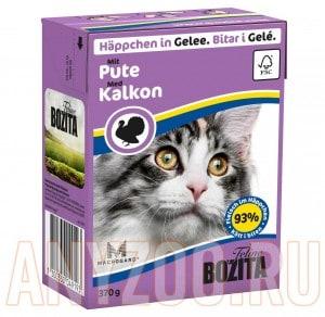 Купить Bozita Tetra Pak кон.д/кошек Кусочки в желе Рубленая Индейка