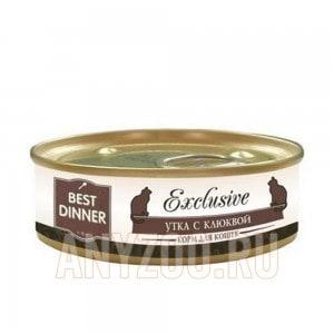 фото Best Dinner Exclusive Бэст Диннер Эксклюзив консервы для кошек Утка с клюквой