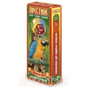 фото Престиж Жесткие палочки лакомство для крупных попугаев с овощами,фруктами и орехами