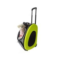 Ibiyaya - Ибияя складная сумка-тележка для собак до 8 кг 3 в 1 (сумка,рюкзак,тележка) Лайм