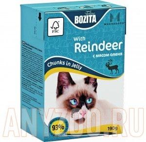 Купить Bozita Mini  Tetra Pak д/кошек кусочки в желе с Мясом Оленя