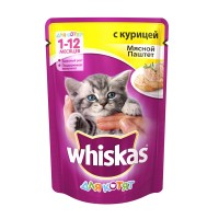 фото Whiskas Вискас пауч для котят паштет Курица