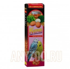 Катрин Палочки для волнистых попугаев Мед+Яйцо 2шт