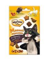 Лакомство Мнямс Мясной карнавал с уткой, индейкой и курицей для кошек