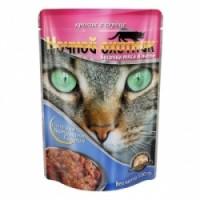 Ночной охотник консервы для кошек кролик с сердем кусочки в соусе