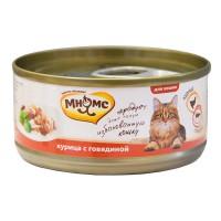 Мнямс консервы для кошек Курица с сыром желе