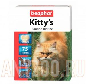 фото Beaphar Kitty`s Taurin & Biotin, Витаминизированное лакомство с таурином и биотином для кошек,