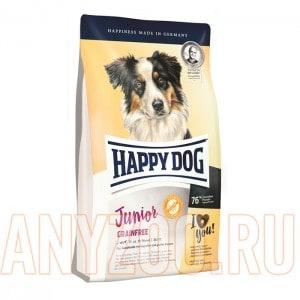 Купить Happy Dog Junior Grainfree Хэппи Дог Юниор Беззерновой корм для щенков всех пород от 7 месяцев