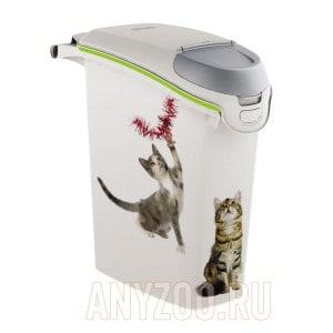 """фото Curver PetLife Контейнер для корма """"Сладкие котята""""на 6кг/15л, 23*50*36см"""