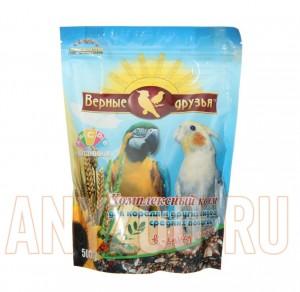 Верные друзья корм для средних попугаев