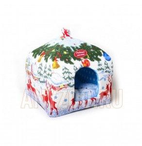 фото Родные места Избушка домик-лежак мягкий для собак и кошек  Олени