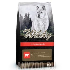 фото Wildy Вилди сухой корм для взрослых собак Говядина