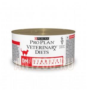 фото Pro Plan Veterinary Diets Diabetes Feline DM Консервированный корм для кошек при диабете пауч с говядиной