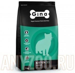 Купить Gina Denmark Kitten 33 Джина сухой корм для котят