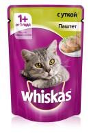 фото Whiskas Вискас пауч для взрослых кошек Паштет с уткой
