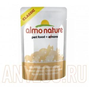 фото Almo Nature Classic Альмо Натюр Классик пауч для кошек Курица и Лосось