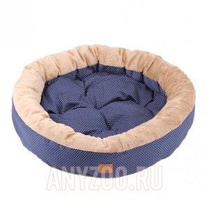 Lion Моник Лежанка из хлопка для собак и кошек, овальная 63*63*14см арт.4763-002