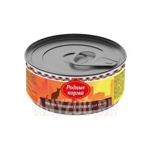 Родные корма Мясное угощение консервы для кошек с печенью