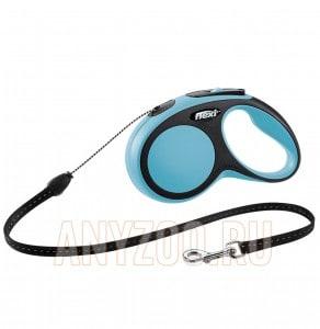 фото Flexi New Comfort рулетка для собак, размер S, 5м*12кг, трос