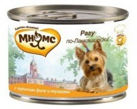 Мнямс Консервированный корм для собак Рагу по-Ланкаширски,  куриное филе с травами