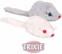 """фото Trixiе набор игрушек для кошек """"Мышки серые и белые"""" 5см*24шт"""